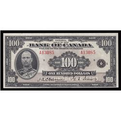 Bank of Canada $100, 1935