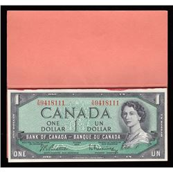 Bank of Canada $1, 1954 - Book of 20 Notes