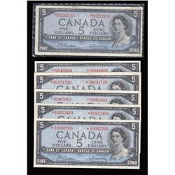 Bank of Canada $5, 1954 Replacement Notes - Lot of 6