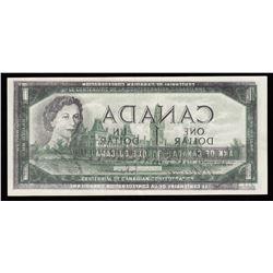 Bank of Canada $1, 1967 Offset Printing Error