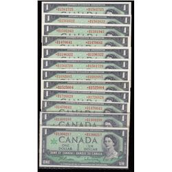 Bank of Canada $1, 1967 Replacement Notes - Lot of 12