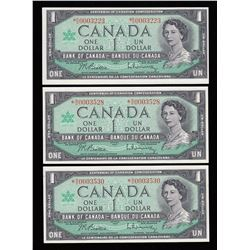 Bank of Canada $1, 1967 Replacement Notes - Lot of 3