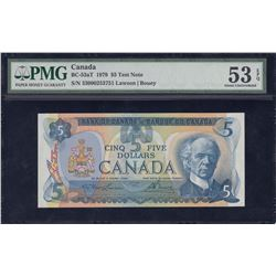 Bank of Canada $5, 1979 Test Note