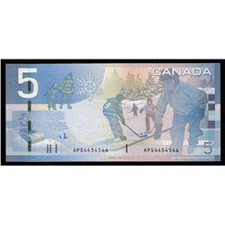 Bank of Canada $5, 2008 - 2 Digit Radar