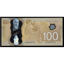 Bank of Canada $100, 2011 - Misplaced Serial Number