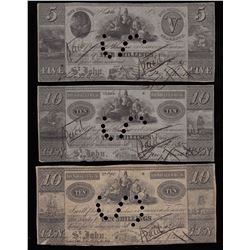 Benjamin Smith 5 and 10 (2) Shilling Notes