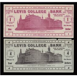 Levis College Bank - Lot of 2