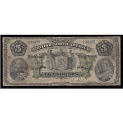 Bank of British North America $5, 1886