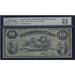 Merchants Bank of Canada $10, 1916