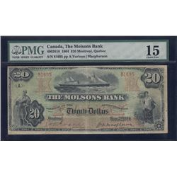 Molsons Bank $20, 1904