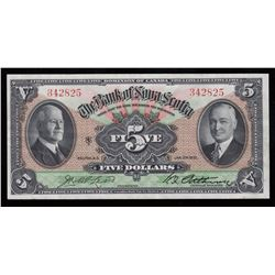 Bank of Nova Scotia $5, 1935