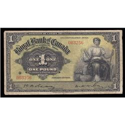 Royal Bank of Canada £1, 1938 - Kingston, Jamaica