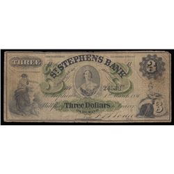 St. Stephens Bank $3, 1880