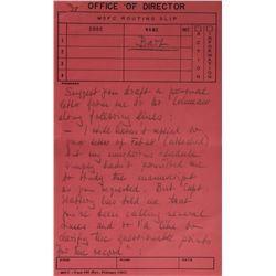 Wernher von Braun Handwritten Notes