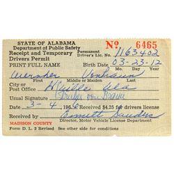 Wernher von Braun's Driver's License