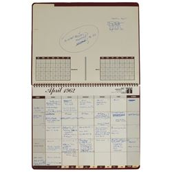 MA-8: Wally Schirra's 1962 Calendar