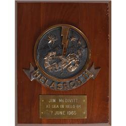 Gemini 4: Jim McDivitt's Signed Plaque