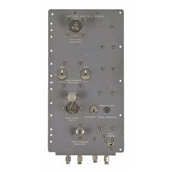 Apollo CM Block I Oxygen Control Panel