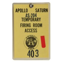 Jack King's Apollo 5 Access Badge