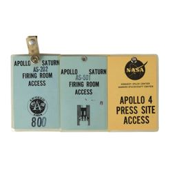 Jack King's Set of (3) Early Apollo Access Badges
