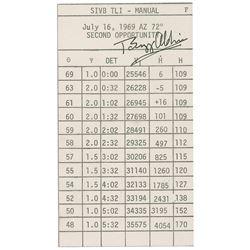 Buzz Aldrin's Apollo 11 Signed Cue Card