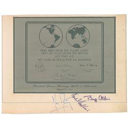 Michael Collins's Apollo 11 Signed Replica Plaque