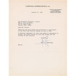 Neil Armstrong Signed Typed Letter
