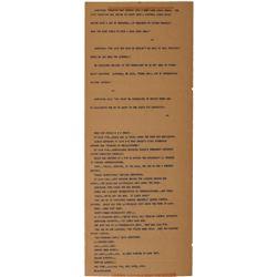 Apollo 11 Original AP-printed Teletype Record