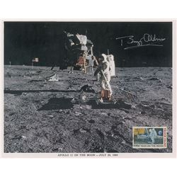 Buzz Aldrin Pair of Signed Photographs