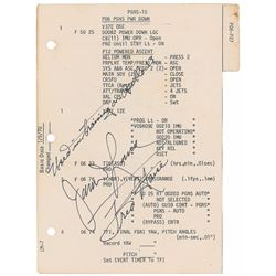 James Lovell and Fred Haise Training-Used Signed Dictionary Page