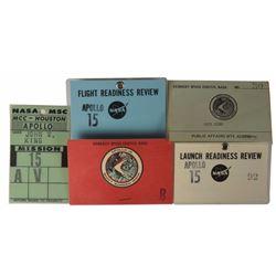 Jack King's Apollo 15 Set of (5) Badges