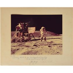 Apollo 16 Oversized Signed Photograph