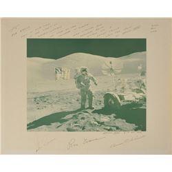 Apollo 17 Oversized Signed Photograph