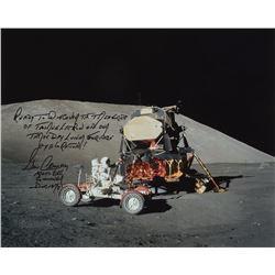 Gene Cernan Oversized Signed Photograph