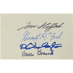 Apollo-Soyuz and President Ford Signed Cover and Card