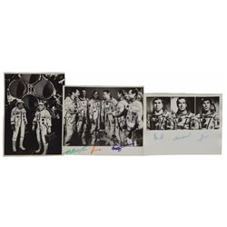 Soyuz and Mir Crew Set of (3) Signed Photographs
