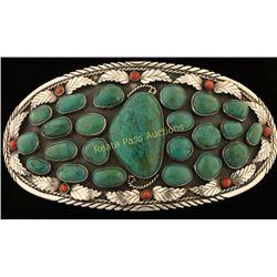 Manassa Turquoise Belt Buckle