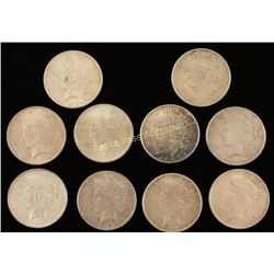10 Liberty Silver Dollars