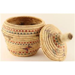 Northwest Coast Lidded Basket