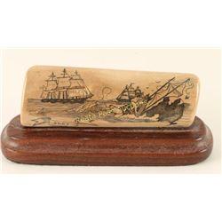 Scrimshaw of Schooners & Whaling Boat