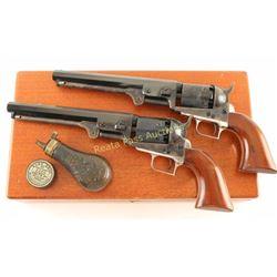 Cased Pair of Colt 1851 Navy Revolvers