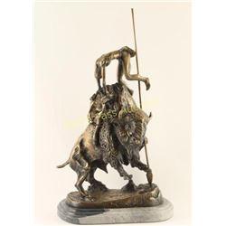 Remington Brass Sculpture