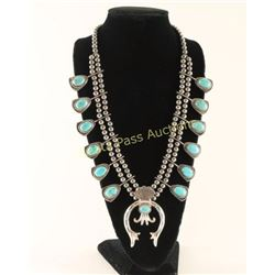 Reversible Turquoise Squash Blossom Necklace
