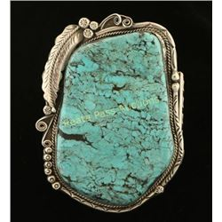 Massive Navajo Bisbee Turquoise Cuff Bracelet