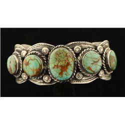 Southwest Turquoise Silver Cuff