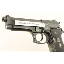 Taurus PT 92 AF 9mm SN: L66109
