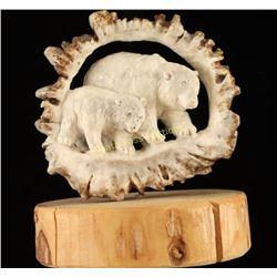 Carved Antler Sculpture