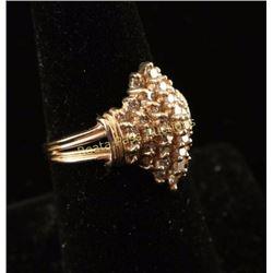 Captivating 1 Carat Light Champagne Diamond Ring