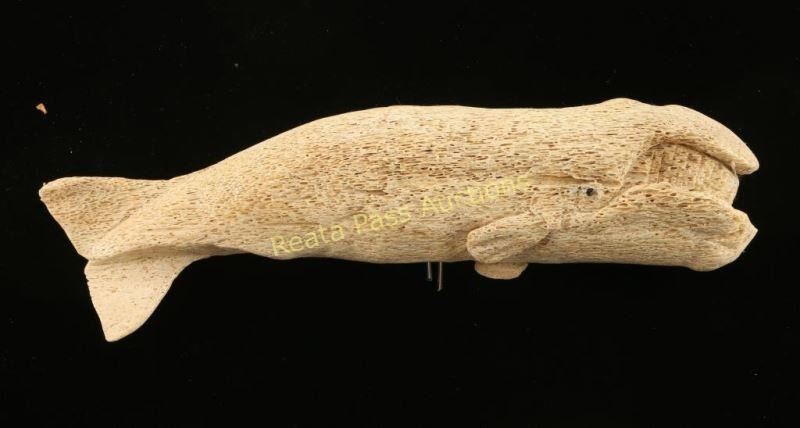 Lot Of 2 Whale Bone Carvings