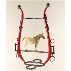 Folk Art Western Memorabilia Horse Tack Hat Rack